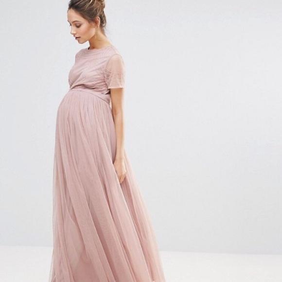 c7aa85ae899cc Maya Maternity Bodice Maxi Dress. M_5b43c3239539f7c2c5c15228
